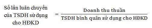 Số luân chuyển của TSDH sử dụng cho HĐKD