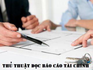 Thủ thuật đọc báo cáo tài chính