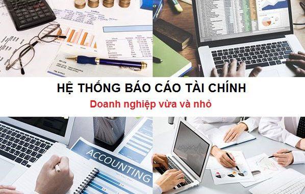 Hệ thống báo cáo tài chính của doanh nghiệp vừa và nhỏ