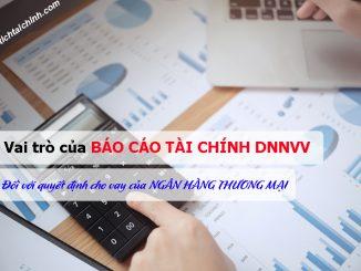 Vai trò của báo cáo tài chính DNNVV đối với quyết định cho vay của ngân hàng thương mại