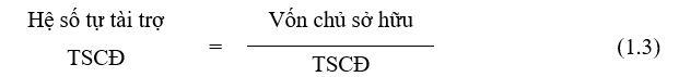 Hệ số tự tài trợ TSCĐ