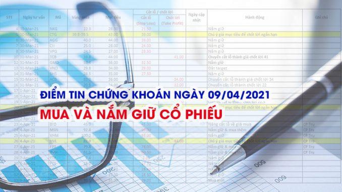 Điểm tin chứng khoán ngày 09/04/2021